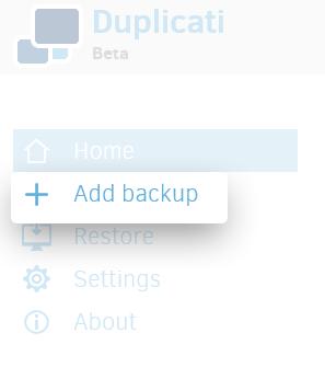 Add Backup