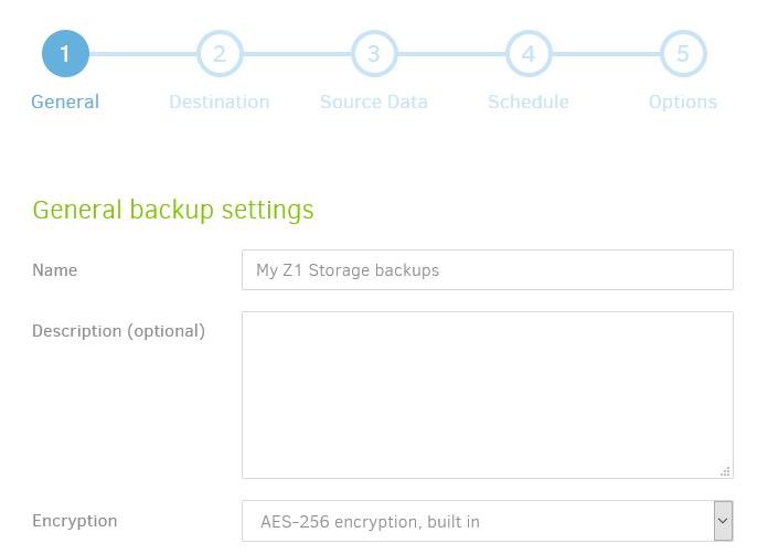 General Backup Settings