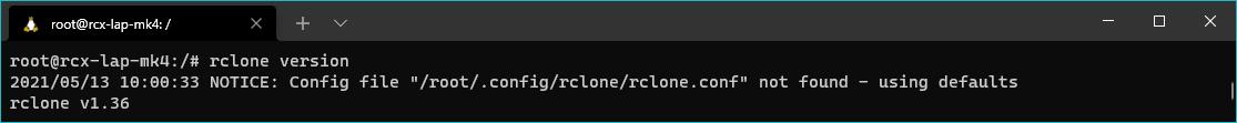rclone check version