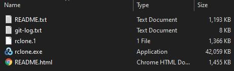 rclone windows directory