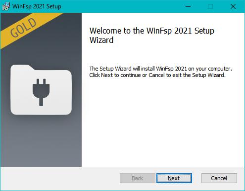 winfsp installation