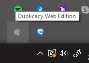 Duplicacy - Hidden Icon